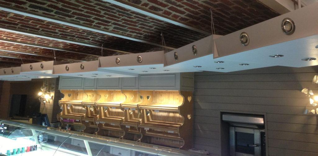 éclairages intérieur boulangerie