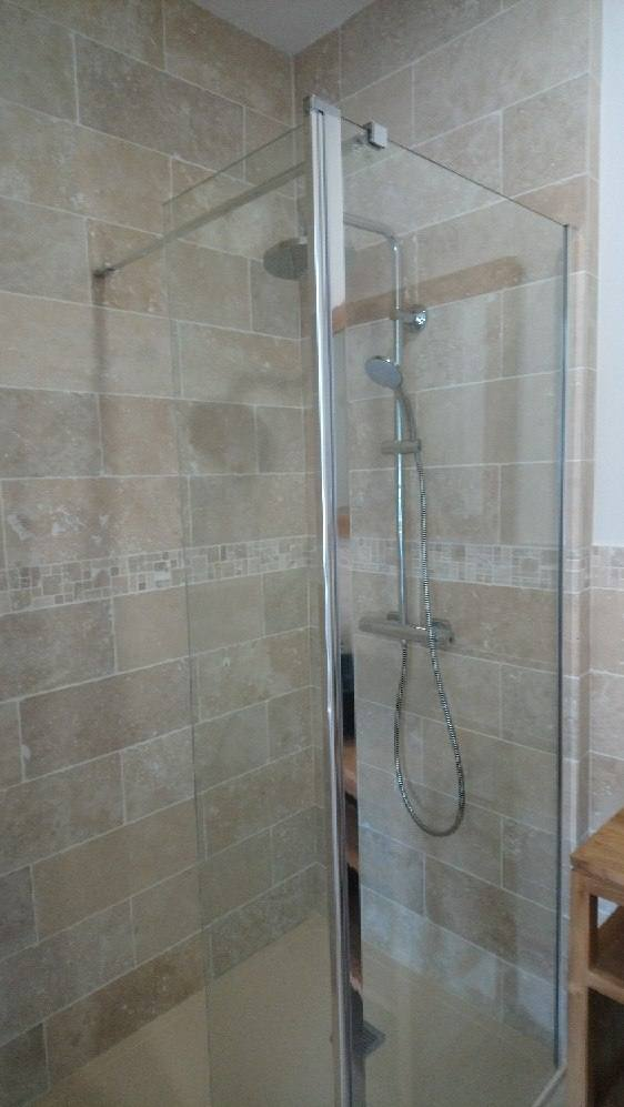 douche italienne-cloison vitrée