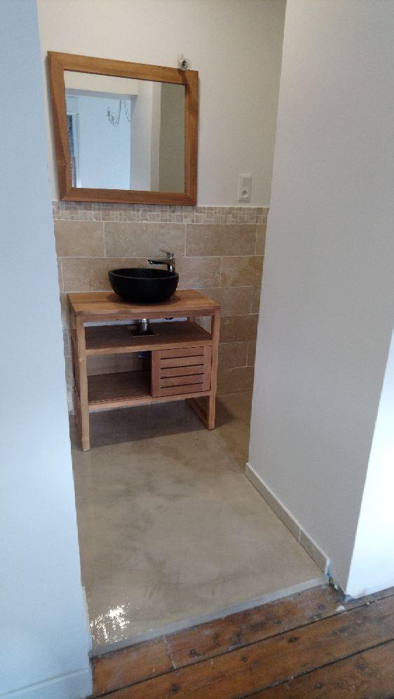 béton ciré pour salle de bain