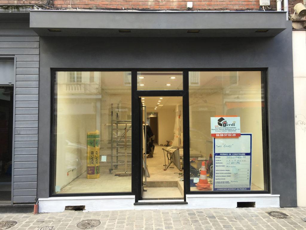 Aménagement boutique en cours